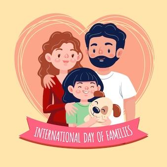 ilustração dos desenhos animados do dia internacional das famílias