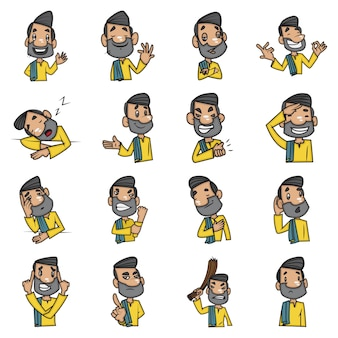 Ilustração dos desenhos animados do homem.