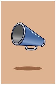 Ilustração dos desenhos animados do ícone do alto-falante manual