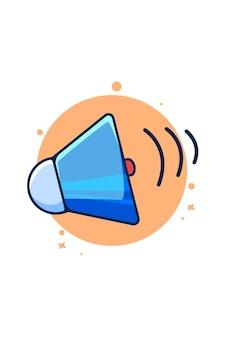 Ilustração dos desenhos animados do ícone do alto-falante manual Vetor Premium