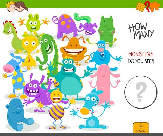Ilustração dos desenhos animados do jogo de contagem para crianças