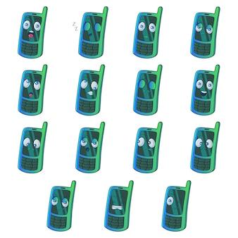 Ilustração dos desenhos animados do jogo de telefone.