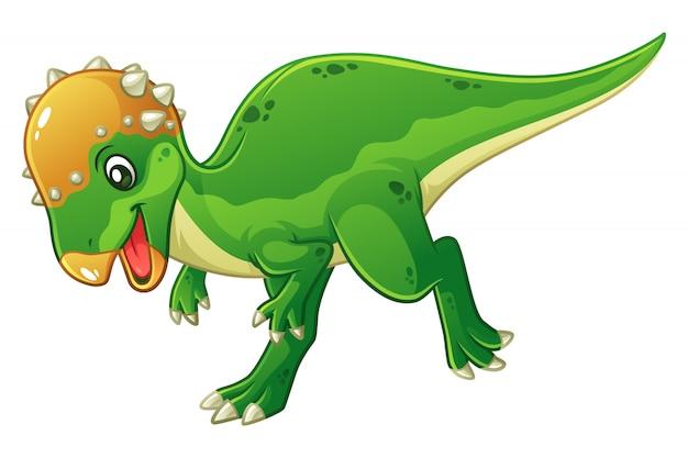 Ilustração dos desenhos animados do pequeno paquicefalossauro