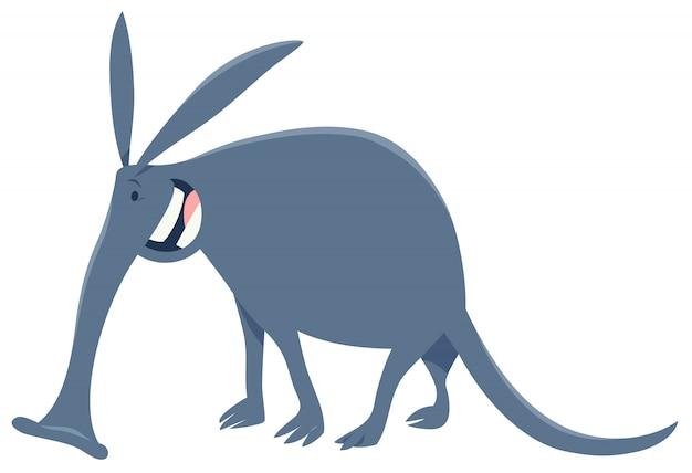 Ilustração dos desenhos animados do personagem animal aardvark