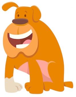 Ilustração dos desenhos animados do personagem de animal de cachorro bulldog