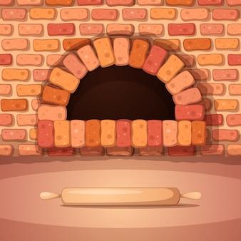 Ilustração dos desenhos animados do rolo de padaria