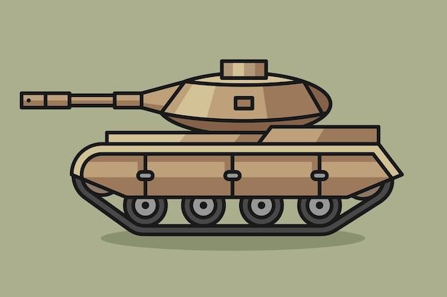 Ilustração dos desenhos animados do tanque
