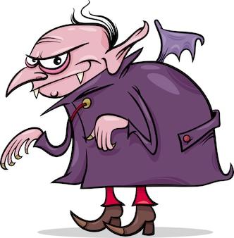 Ilustração dos desenhos animados do vampiro do dia das bruxas