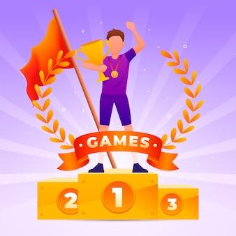 Ilustração dos jogos olímpicos de gradiente 2021