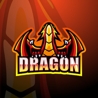 Ilustração dragon mascot esport