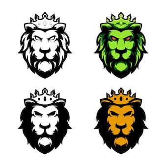 Ilustração e esboço do projeto do leão. perfeito para logotipos de esportes, jogos, designs de camisetas.