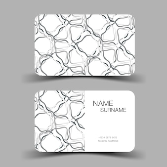 Ilustração editável eps10 do modelo do cartão de visita design minimalista do vetor