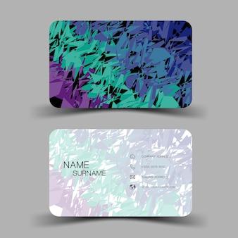 Ilustração editável eps10 do modelo do cartão de visita.