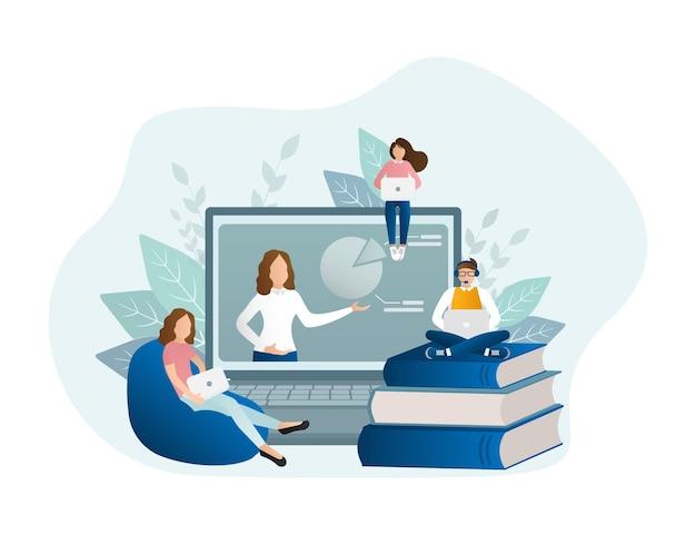 Ilustração educação online