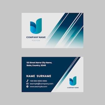 Ilustração elegante de design de cartão de visita