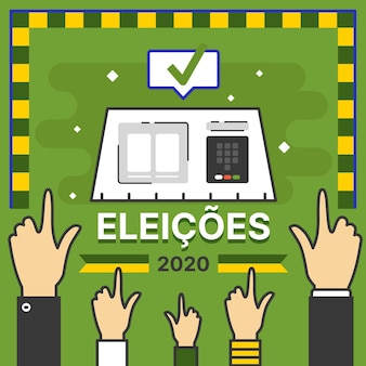 Ilustração eleições brasil 2020