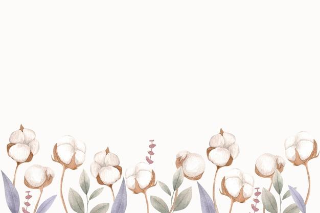 Ilustração em aquarela de fundo de algodão