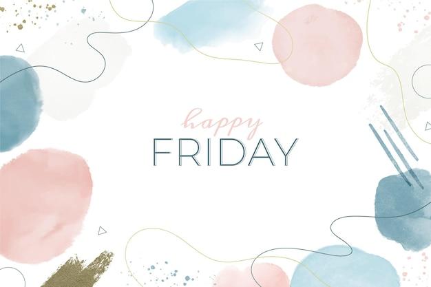 Ilustração em aquarela feliz sexta-feira