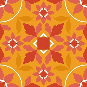 Ilustração em azulejo laranja