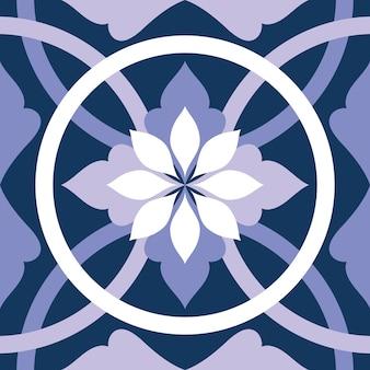 Ilustração em azulejo roxo