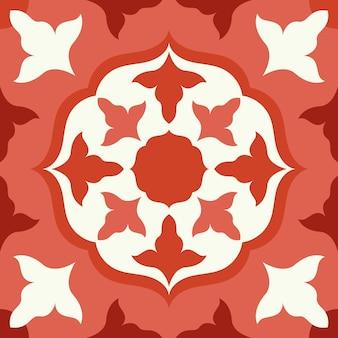 Ilustração em azulejo vermelho