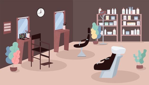 Ilustração em cor lisa para salão de beleza