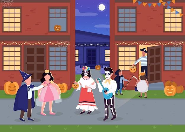 Ilustração em cores lisas de halloween