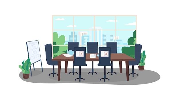 Ilustração em cores planas de trabalho remoto