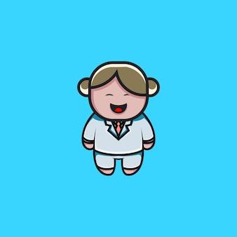 Ilustração em desenho animado bonito