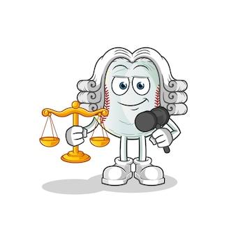 Ilustração em desenho animado de advogado de beisebol