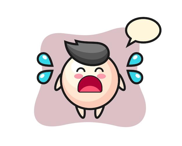 Ilustração em desenho de pérola com gesto de choro