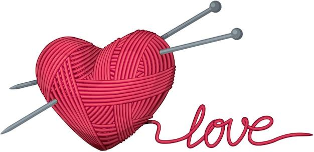 Ilustração em forma de coração de fio