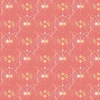 Ilustração em gradiente do padrão art déco
