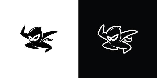 Ilustração em jogo do logotipo do mascote guerreiro assassino premium vector