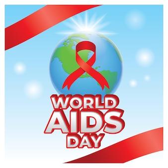Ilustração em mídia social do dia mundial da aids design de pôster