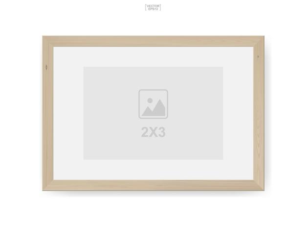 Ilustração em moldura de madeira