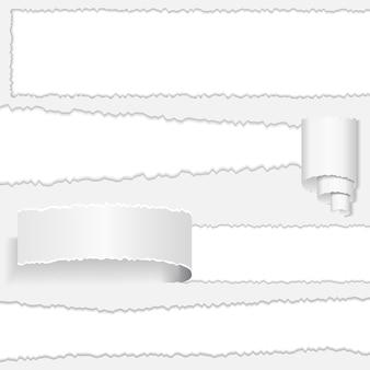 Ilustração em papel rasgado