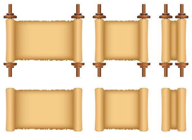 Ilustração em rolo de papiro isolada