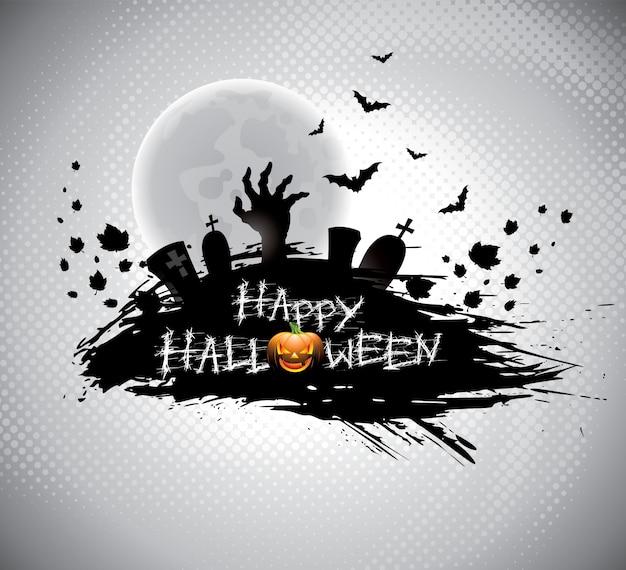 Ilustração em um tema de halloween