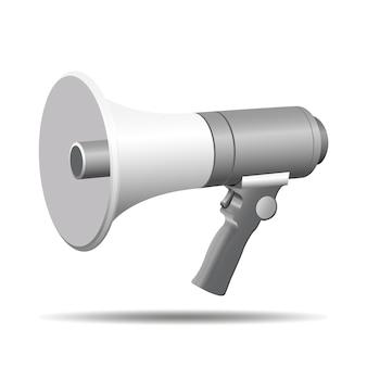 Ilustração em vetor 3d megafone falante