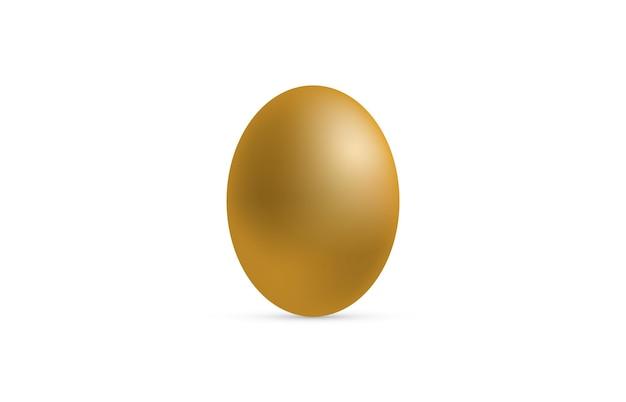 Ilustração em vetor 3d realista ovo marrom claro