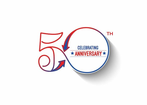 Ilustração em vetor 50º aniversário de aniversário