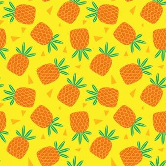 Ilustração em vetor abacaxi padrão sem emenda
