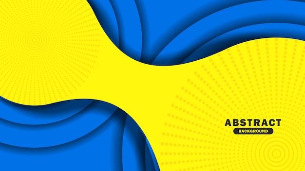 Ilustração em vetor abstrato azul e amarelo