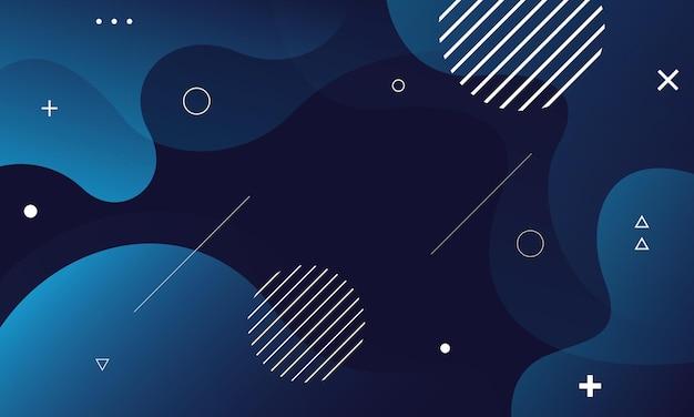 Ilustração em vetor abstrato azul