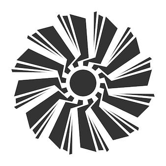 Ilustração em vetor abstrato ornamento, vetor modelo padrão