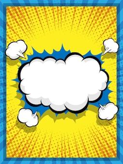 Ilustração em vetor abstrato quadrinhos pop art discurso bolha desenho animado fundo