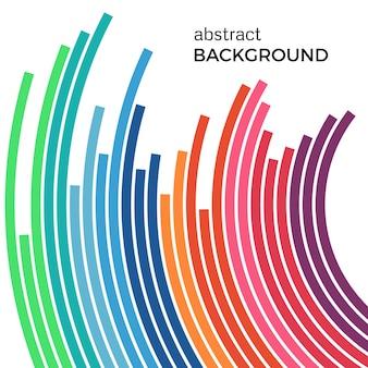 Ilustração em vetor abstrato que descreve círculos coloridos em um fundo branco. fundo de infográfico com lugar para o seu texto.