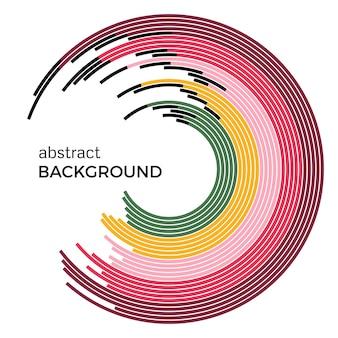Ilustração em vetor abstrato que descreve círculos coloridos em um fundo branco. fundo de infográfico com lugar para o seu texto. Vetor Premium