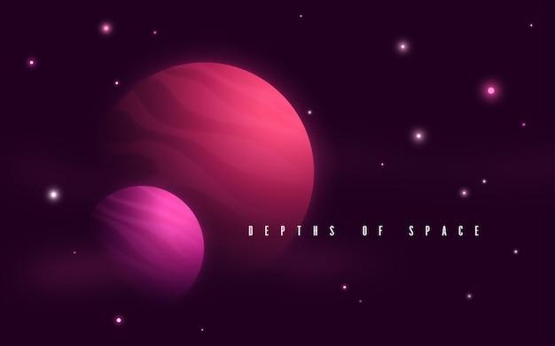 Ilustração em vetor abstrato sci-fi do espaço profundo.